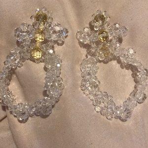 Simone Rocha clear crystal chandelier earrings